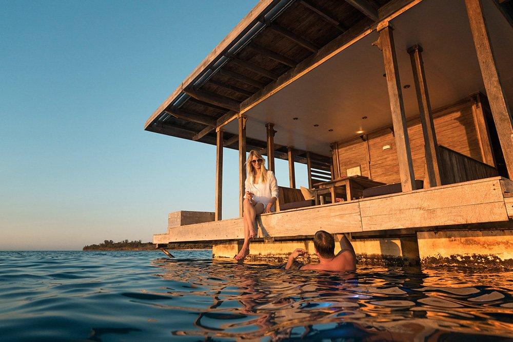 Manta Resort i Pemba Tanzania - sunset