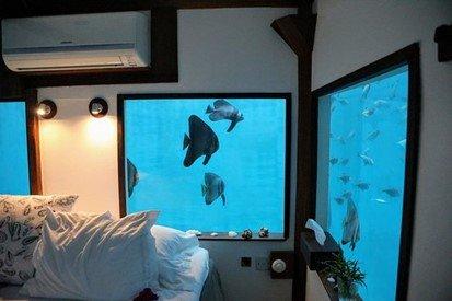 Sovrum under vattenytan